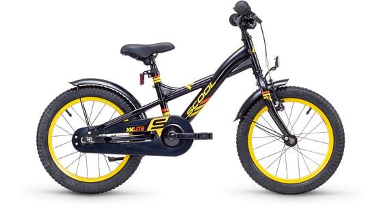 s'cool XXlite 16 - Vélo enfant - steel noir